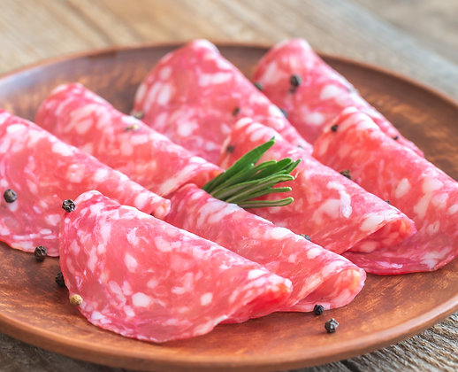 Sliced Italian Milano Salami 100g Portion