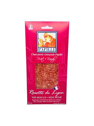 Papille Sliced Red Wine Rosette de Lyon - 125g