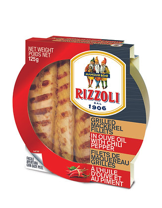 Rizzoli Spicy Grilled Mackerel in Olive Oil - 125g