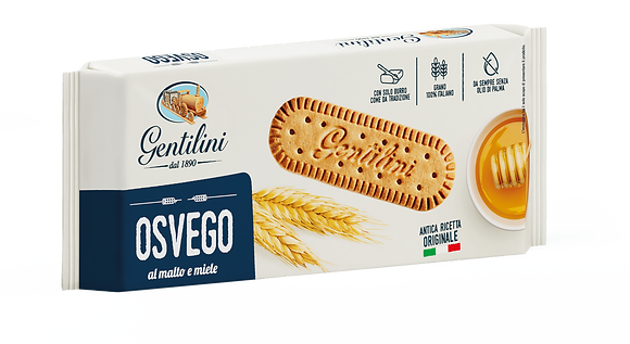 Gentilini Osvego Cookies with Malt and Honey - 250g