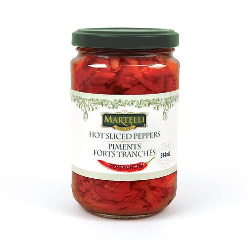 Martelli Hot Sliced Peppers