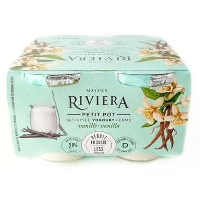 Riviera Yogurt Petits Pots Vanilla - 4x120g