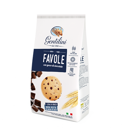 Gentilini Favole Cookies with Chocolate Chips - 330g