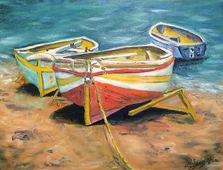Trio Italian Boats, Lorraine yigit art