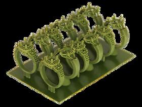 3D jewelry wax print
