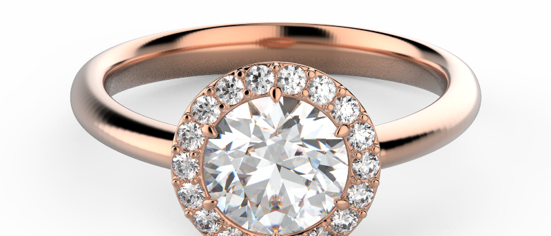 Alluring Solitaire Pave Ring