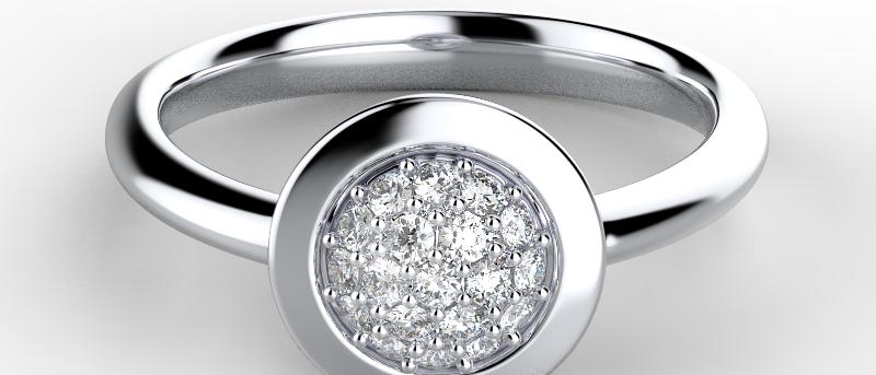 Exquisite Classic Pave Ring