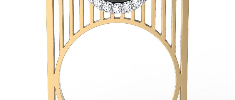 Cityscape Tahitian Pearl Ring