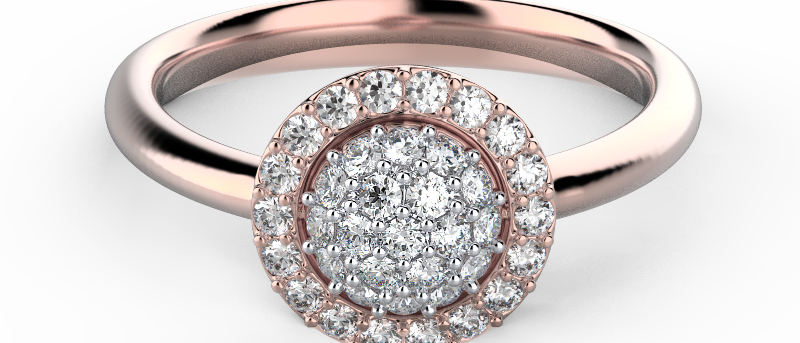 Alluring Double Pave Ring