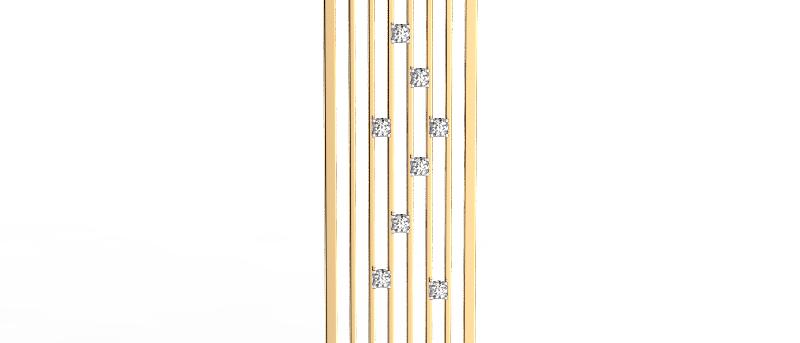 CityScape Scattered Diamond Pendant