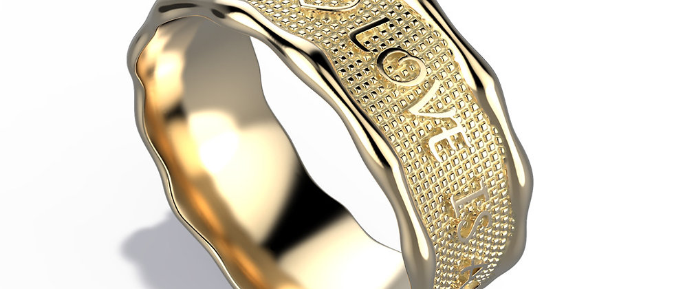 a gold band to personalize with a few special words