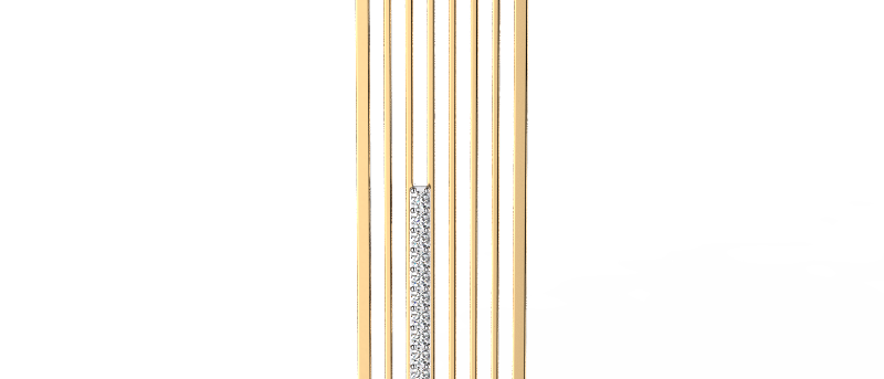 CityScape Stacked Diamond Pendant