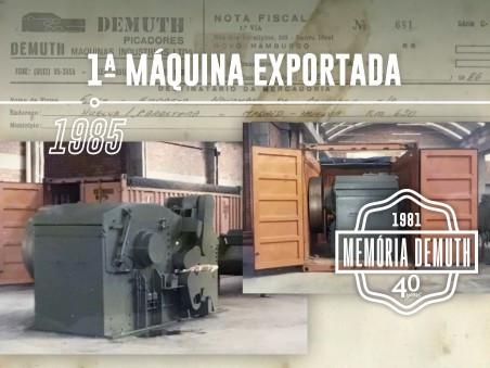 1ª Máquina exportada