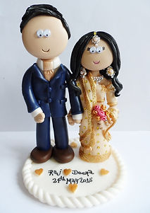 personalised Indian wedding cake topper decoration, Indian wedding cake toppers, personalised wedding cake toppers bride and groom