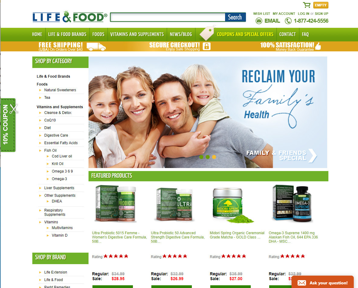Life & Food Inc E-commerce