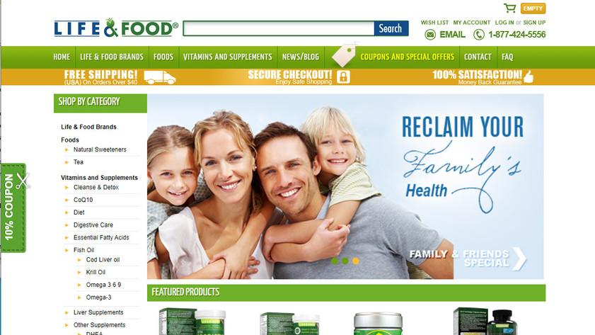 Life & Food Inc E-commerce