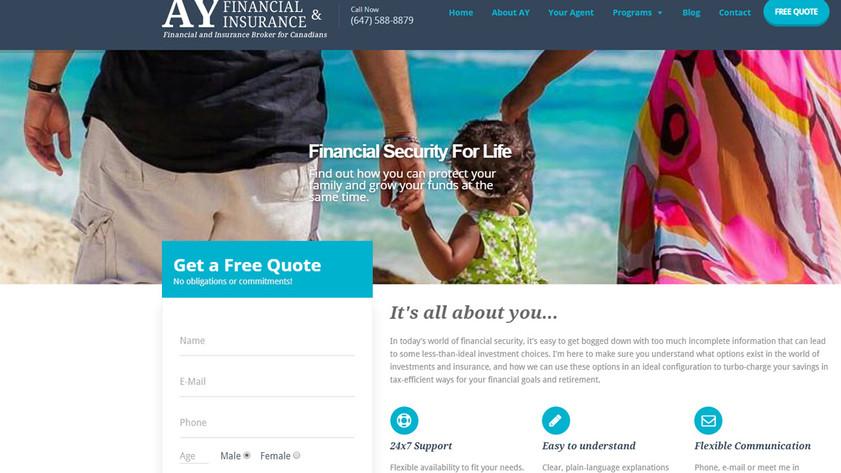 Ay Financial Web