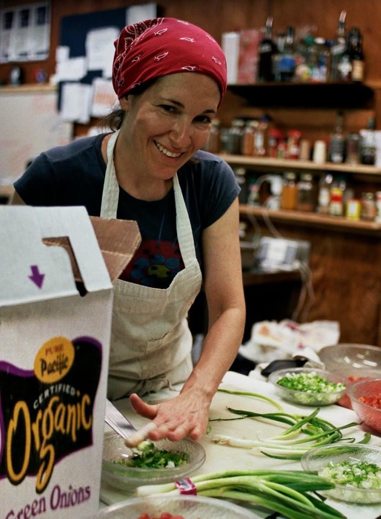 Chef Alison at Camp Ballibay, Summer 2009