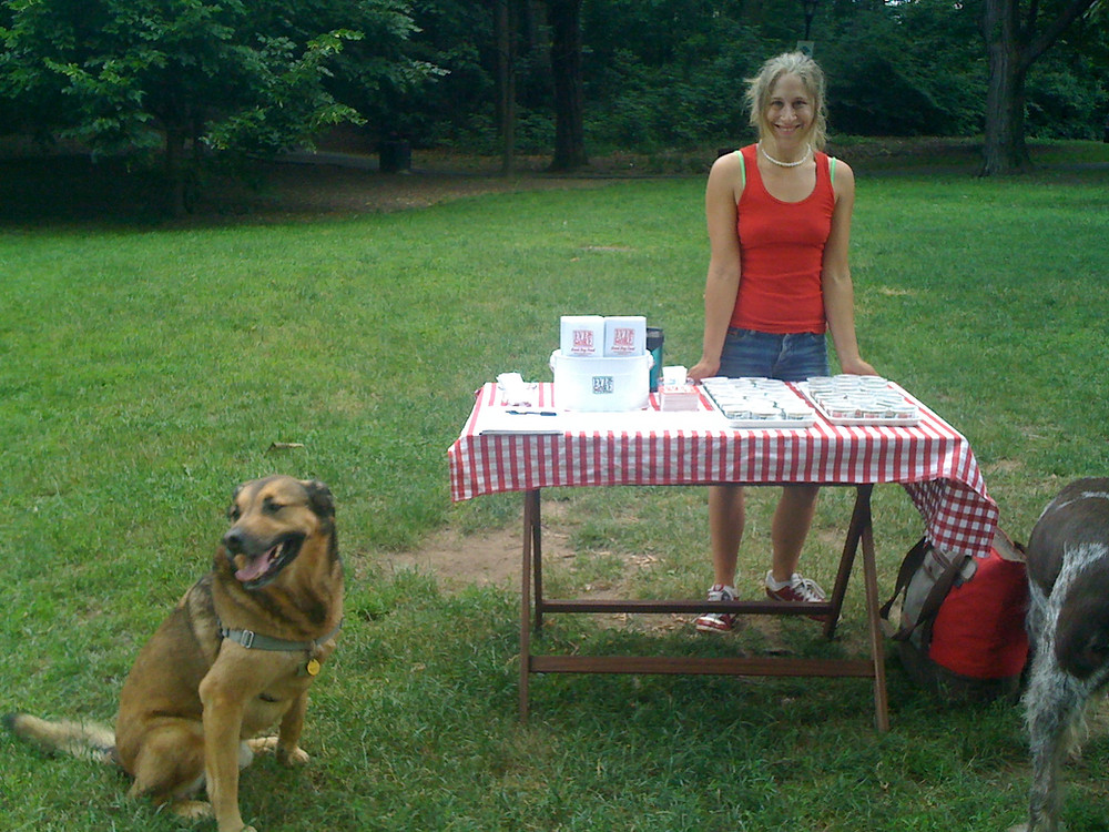 Hanna and Spokesdog Connor workin' it at Prospect Park