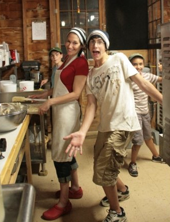 Chef Alison with campers at Ballibay