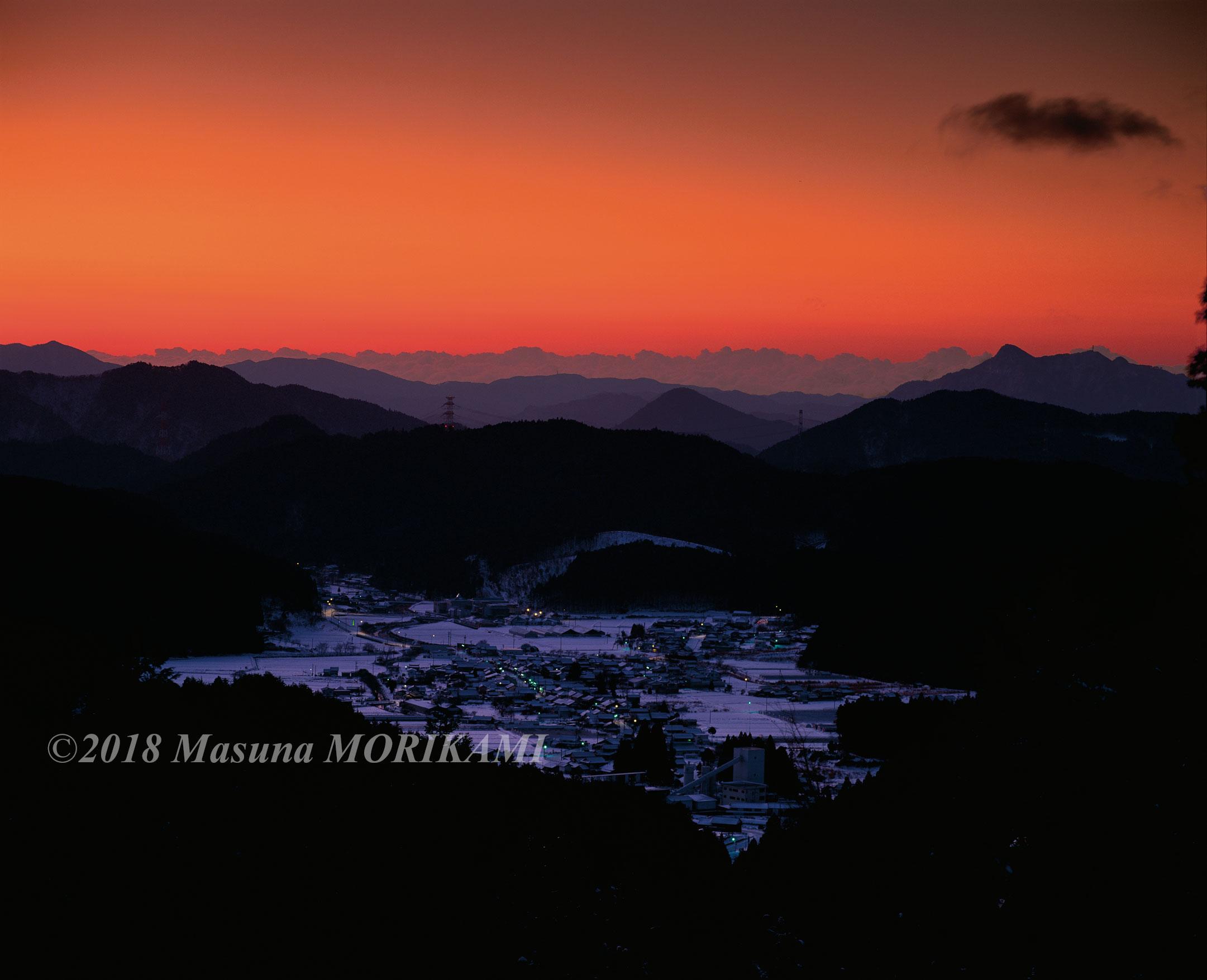 01 夜明け前/愛知県設楽町/2013.1.27 6:30