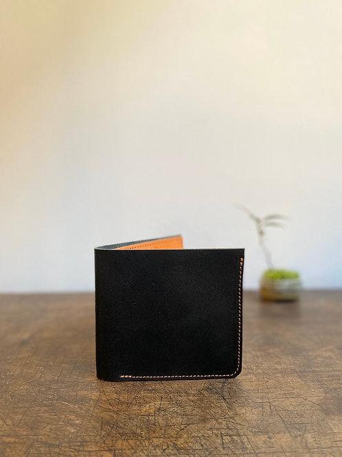 クラニック二つ折り財布 墨黒