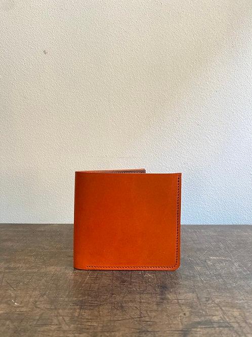 クラシック二つ折り財布 橙