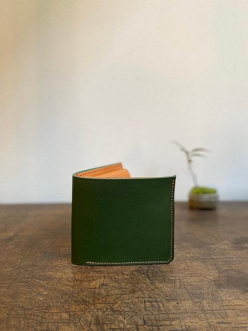 クラニック二つ折り財布 深緑