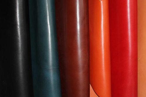 【栃木レザー 本革】A4サイズ 2mm厚 クラフト素材 青緑
