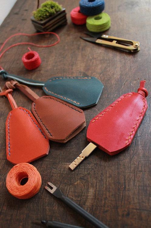 (動画レッスン付)手縫いベル型キーケース