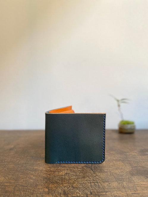 クラニック二つ折り財布 青緑