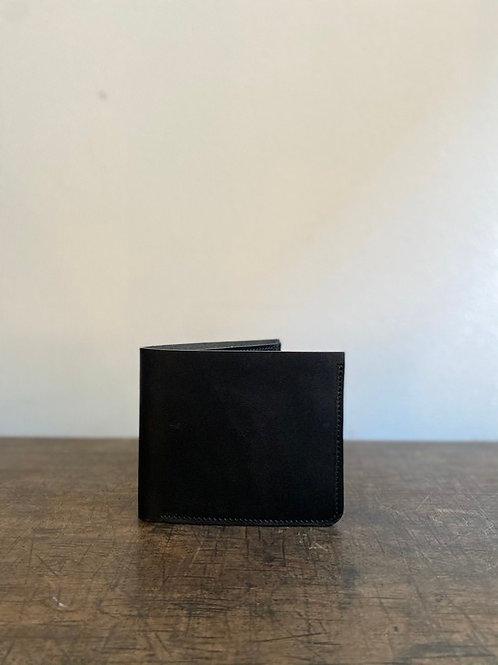 クラシック二つ折り財布 墨黒