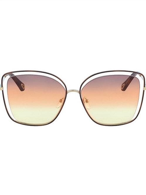 Poppy ( HAVANA/GREY ORANGE YELLOW ) Sunglasses