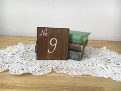 Handmade Table Numbers