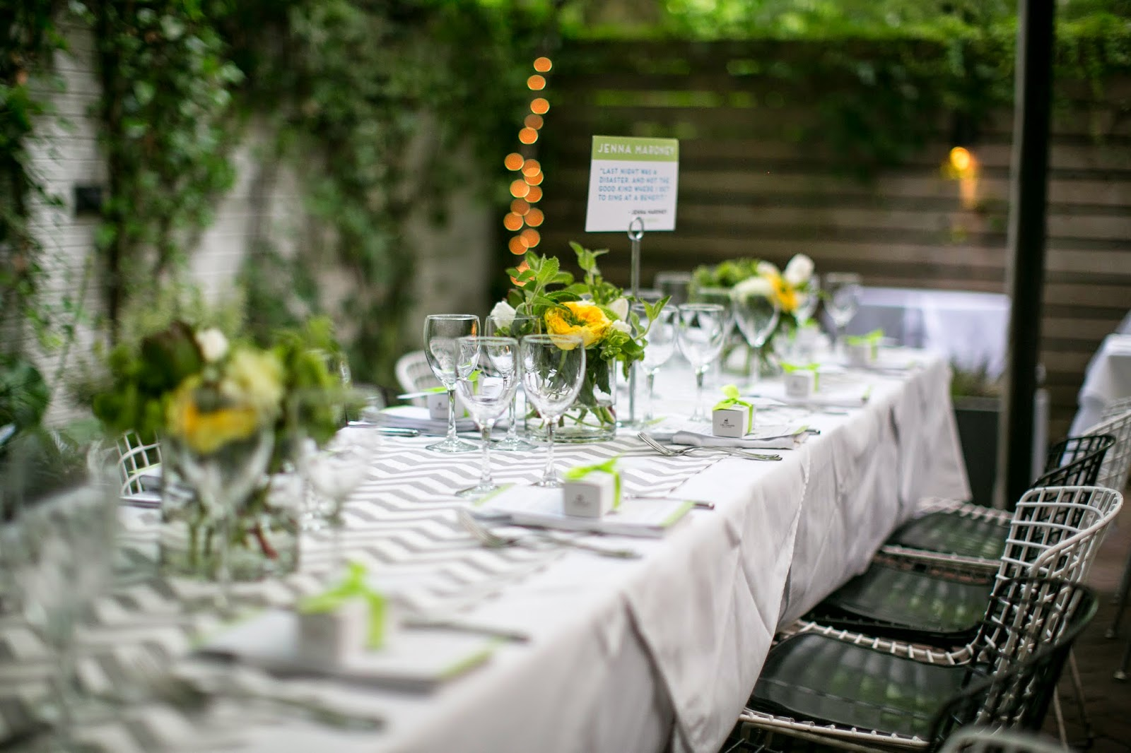 Manhattan garden wedding