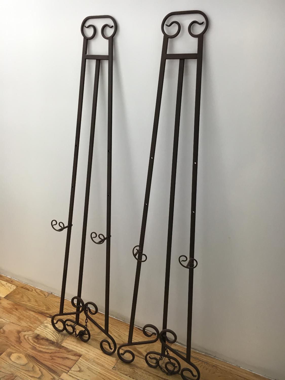 Brown Metal Easels