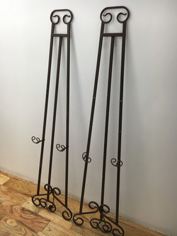 Brown Metal Easels