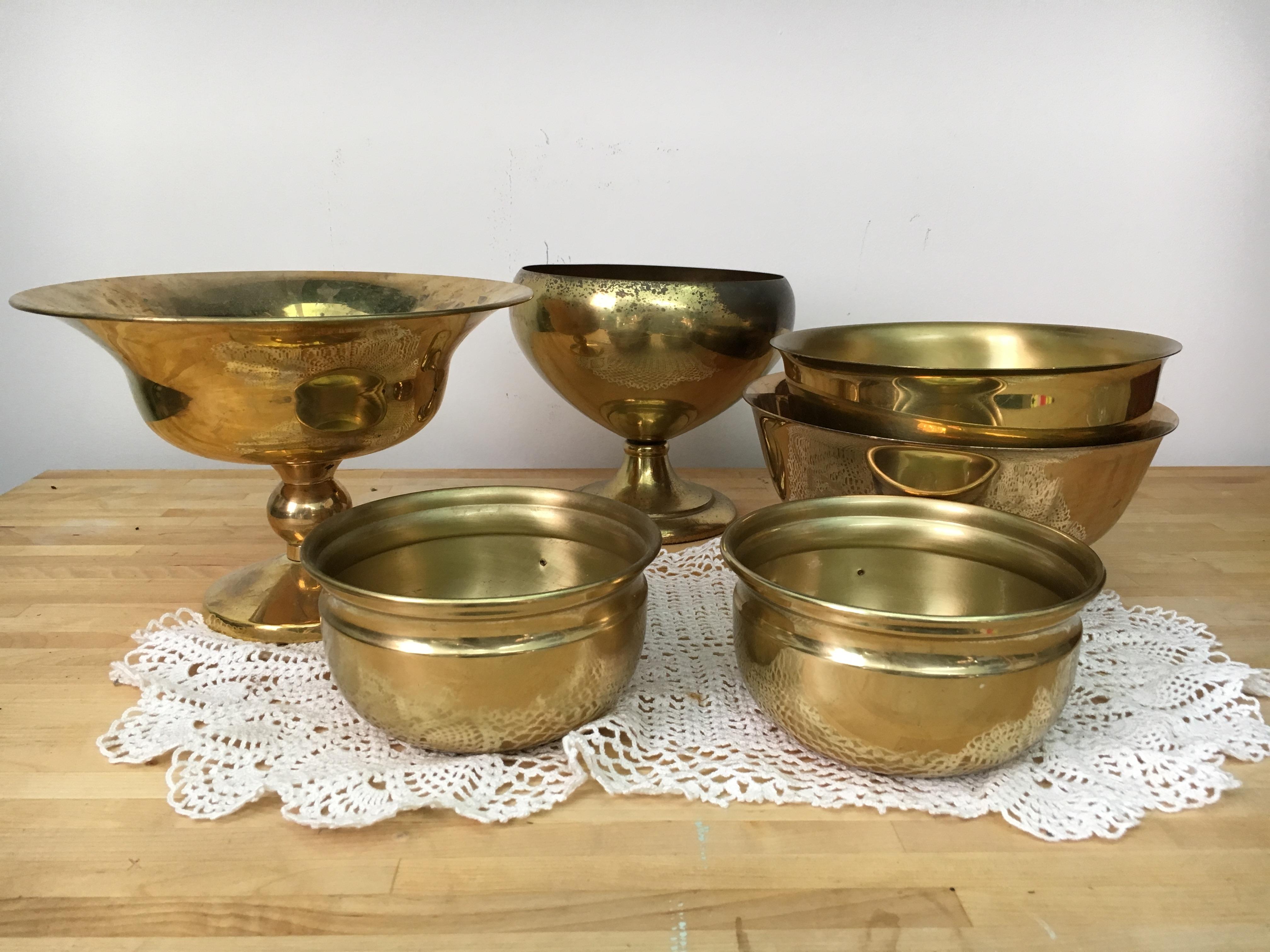 Vintage Gold Bowls