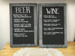 Zinc framed chalkboards