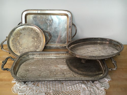 Vintage Silver Trays