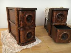 Vintage Wood Sewing Drawers