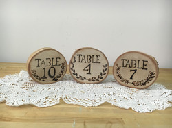 Handmade Birch Wood Table Numbers