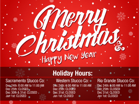 Holiday hours - 2019