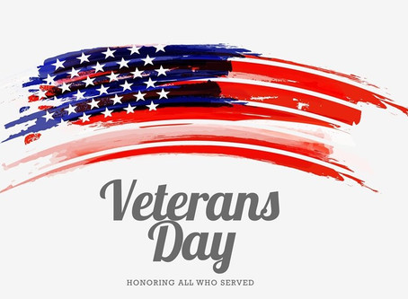 We are open Veterans Day.