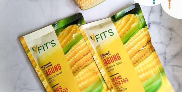 Tepung Jagung (polenta) Fits Mandiri 500gr kemasan ekonomis Non GMO