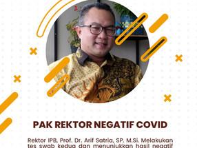Pak Rektor Negatif Covid-19