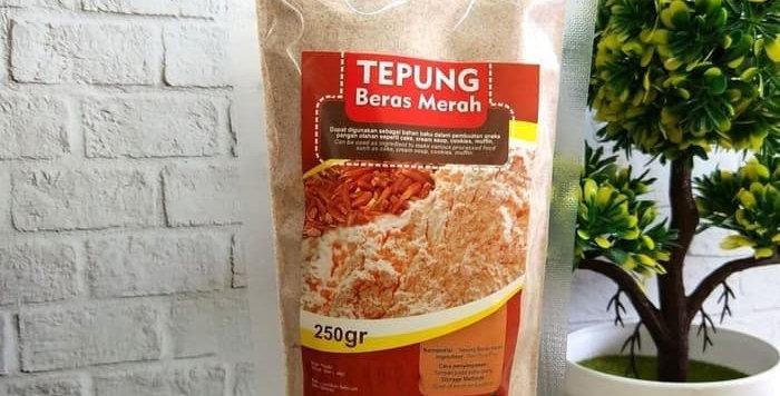 FITS Mandiri, Tepung MPASI Beras Merah Organik 250 gram