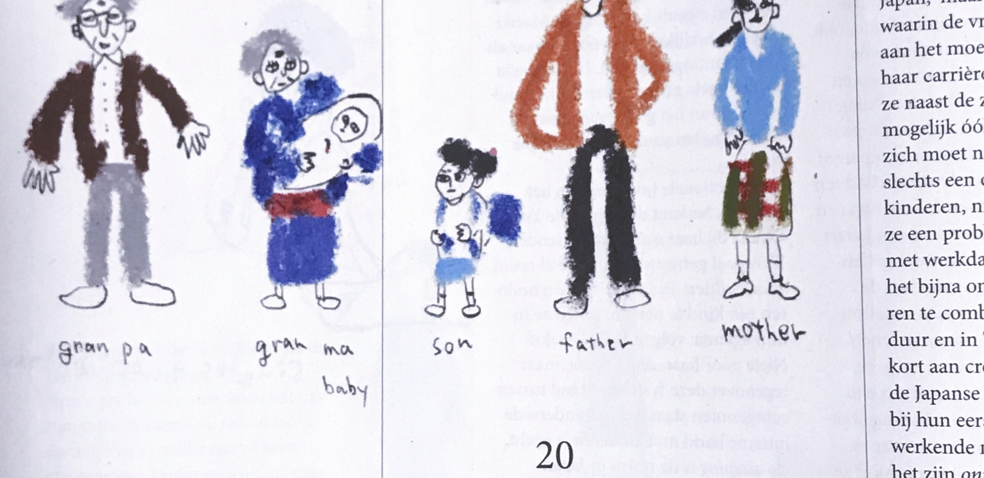 an Illustration about Japanese family forms