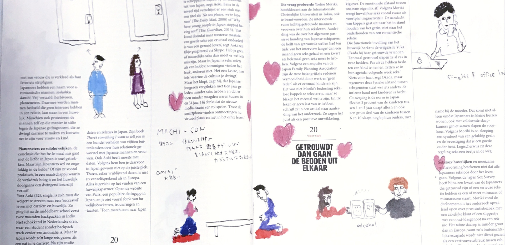 facing page of illustrations published articles 2/3