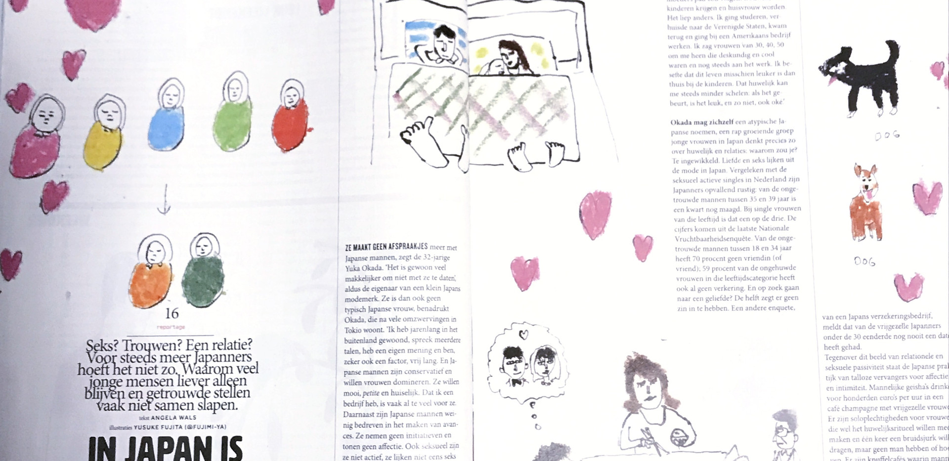 facing page of illustrations published articles